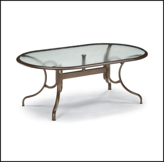 Oval Patio Table Glass