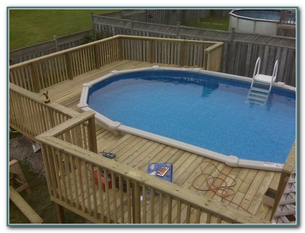 Oval Pool Deck Framing
