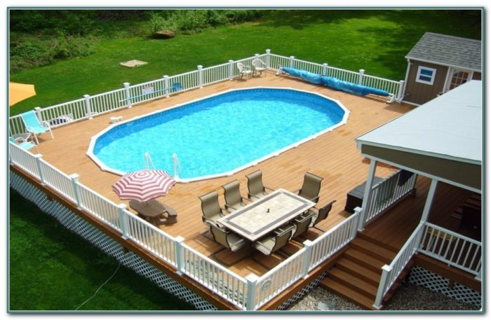 Oval Pool Deck Plans