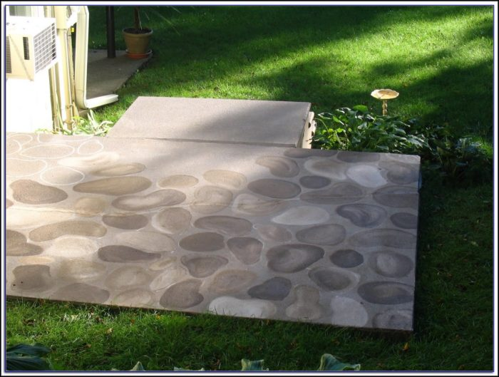 Painting Cement Patio Faux Finish