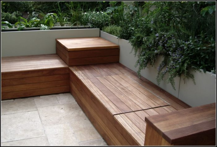 Patio Bench Plans Storage