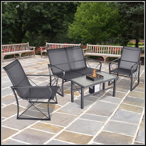 Patio Conversation Set With Fire Pit Table