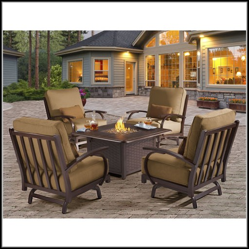 Patio Conversation Sets With Gas Fire Pit