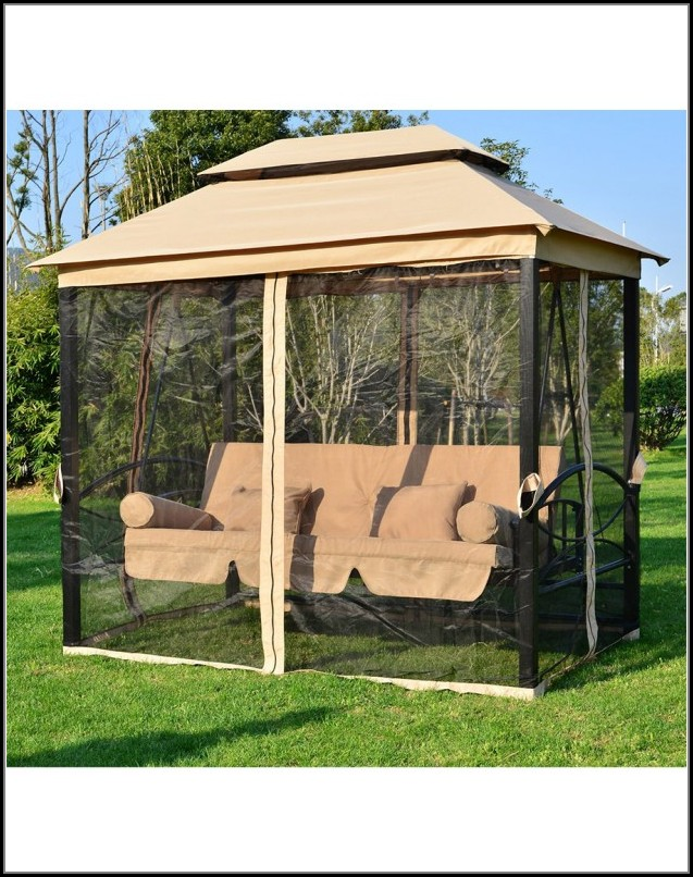 Patio Daybed Canopy Gazebo Swing