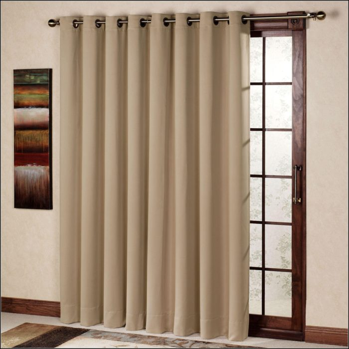 Patio Door Thermal Blackout Curtain Panel