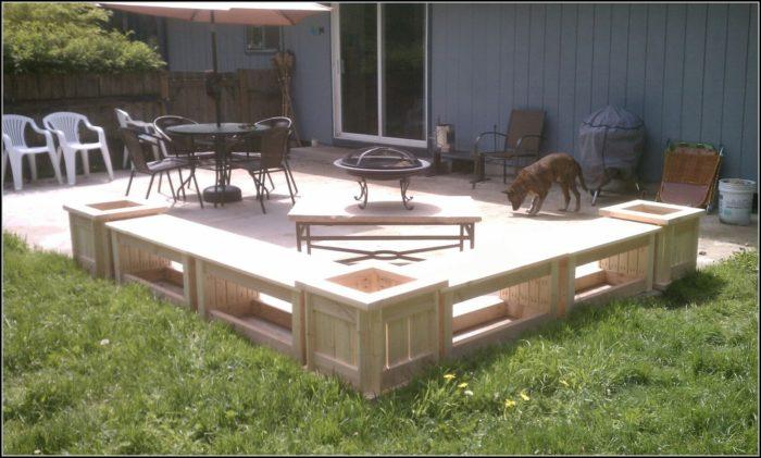 Patio Planter Bench Plans