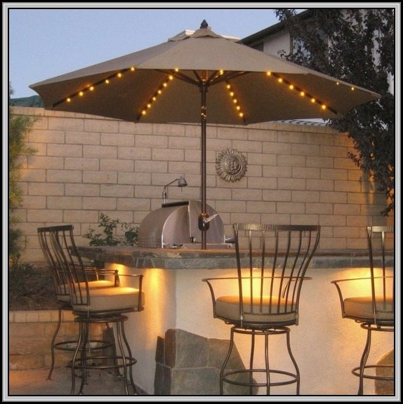 Patio Umbrella Solar Lights Home Depot
