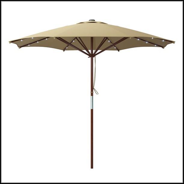 Patio Umbrella With Solar Led Lights