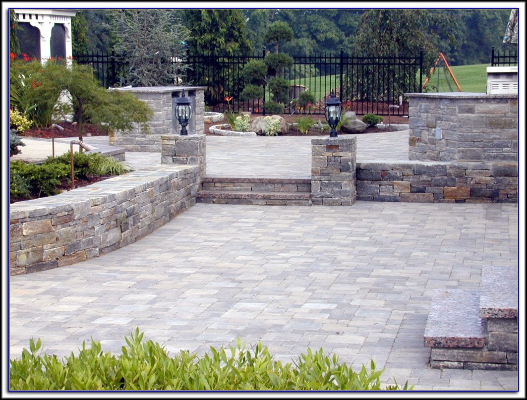 Paver Patio Pool Pictures