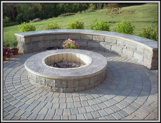 Paver Patios With Fire Pits