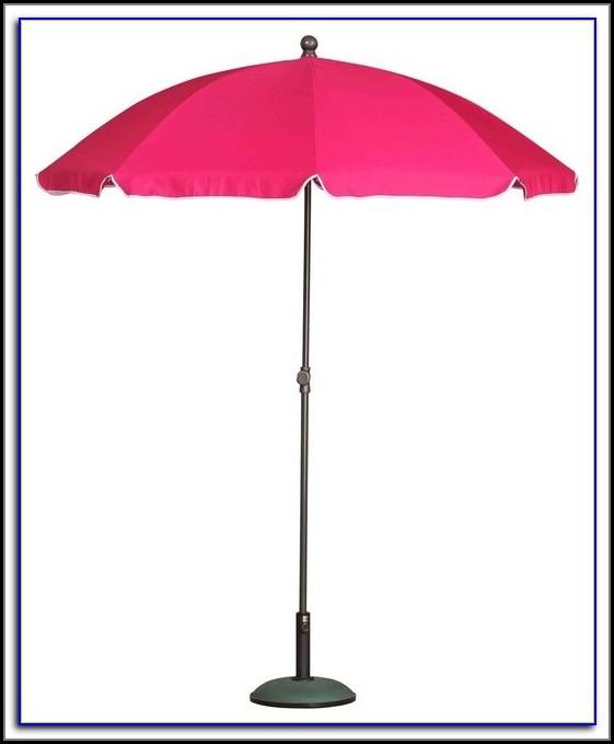 Pink Striped Patio Umbrella