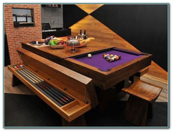 Pool Table Converts Into Dining Table