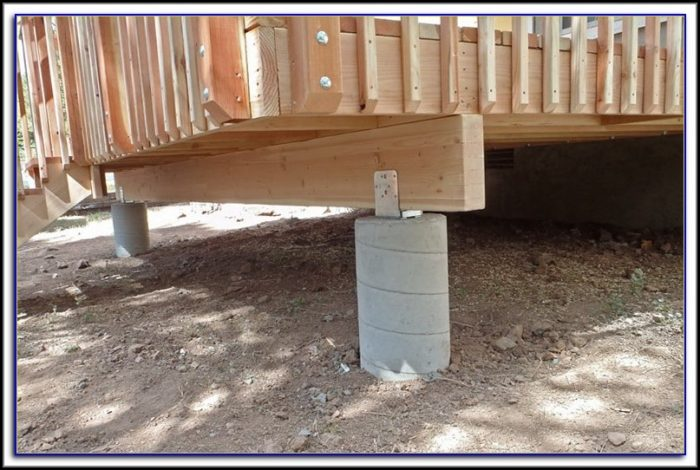 Pouring Concrete Patio Around Deck Footings