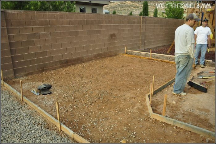 Pouring Concrete Patio In Sections