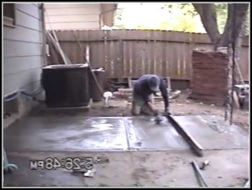 Pouring Concrete Patio Slab