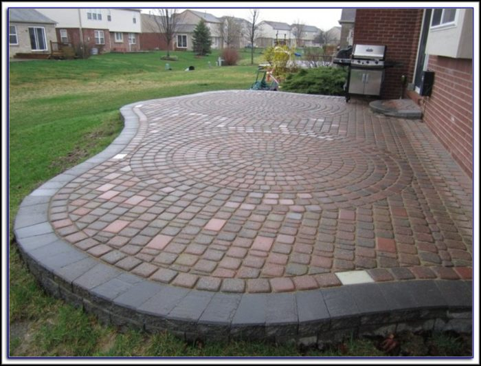 Raised Paver Patio Pictures