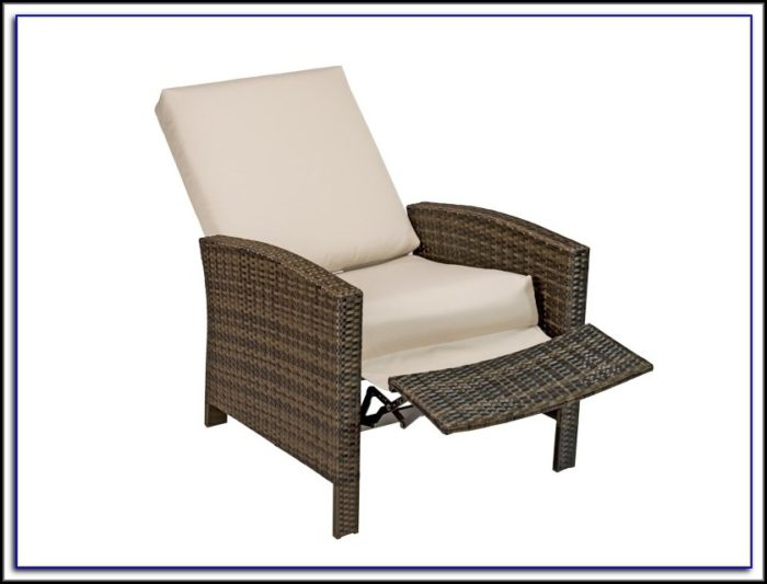 Reclining Patio Chair With Footrest