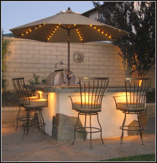 Rectangular Patio Umbrella With Lights