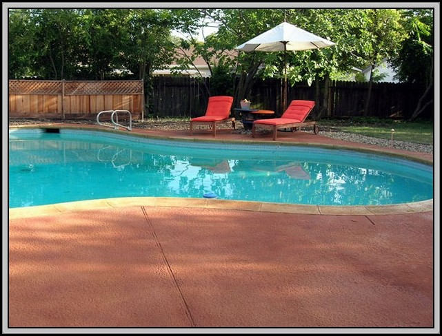 Resurfacing Concrete Patio Around Pool