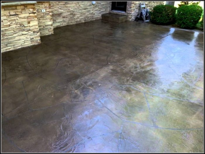 Resurfacing Concrete Patio Flagstone