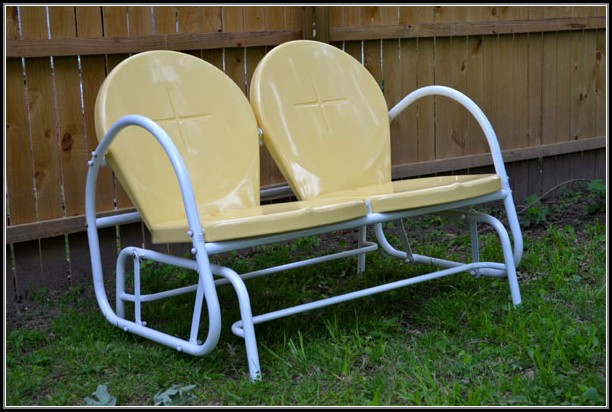 Retro Glider Patio Furniture