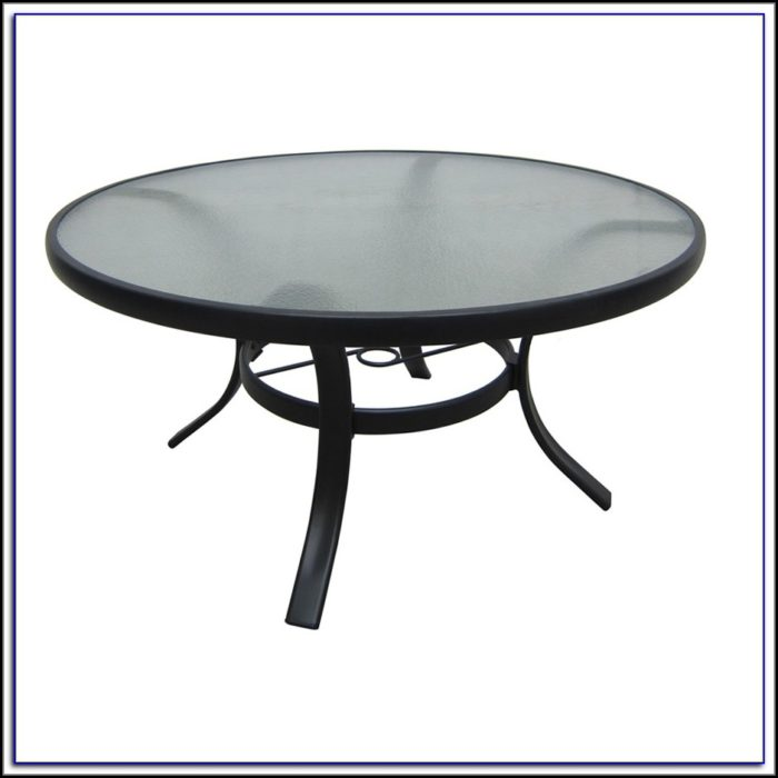 Round Metal Patio Coffee Table