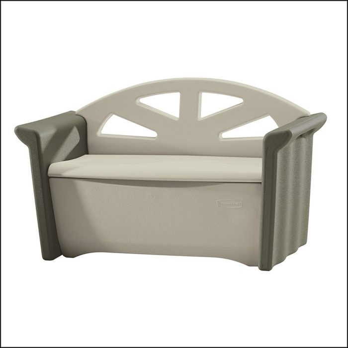 Rubbermaid Patio Storage Bench Dark Platinum 3764