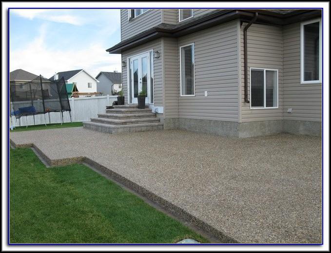 Sealing Aggregate Concrete Patio