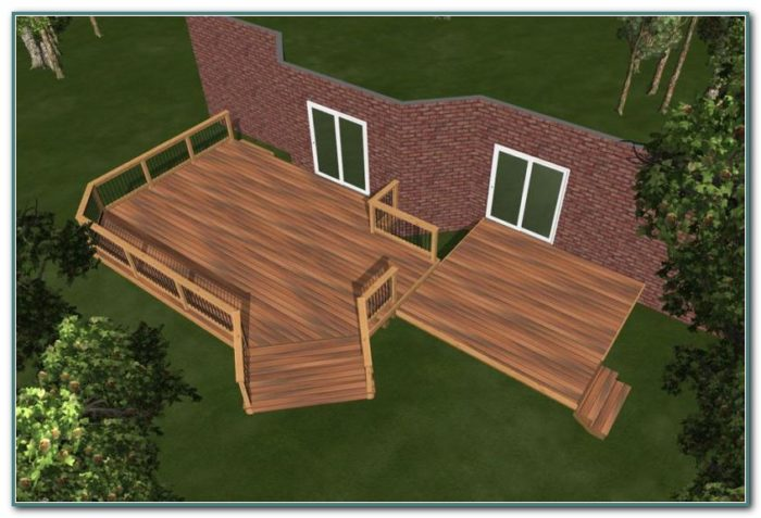 Semi Inground Pool Deck Plans