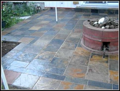 Slate Tile Over Concrete Patio