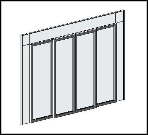 Sliding Door Curtain Panel Revit
