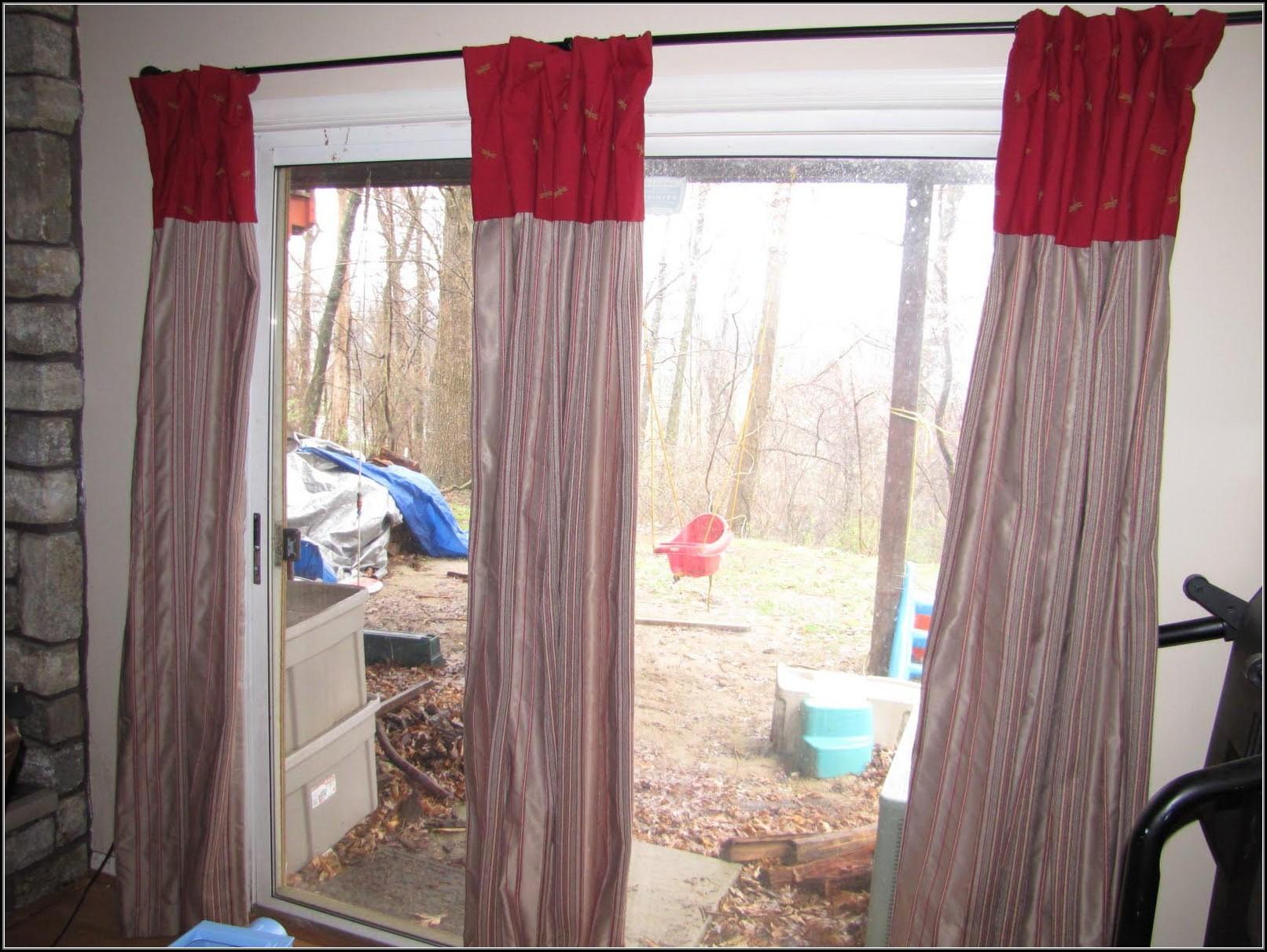Sliding Door Curtain Rod Length