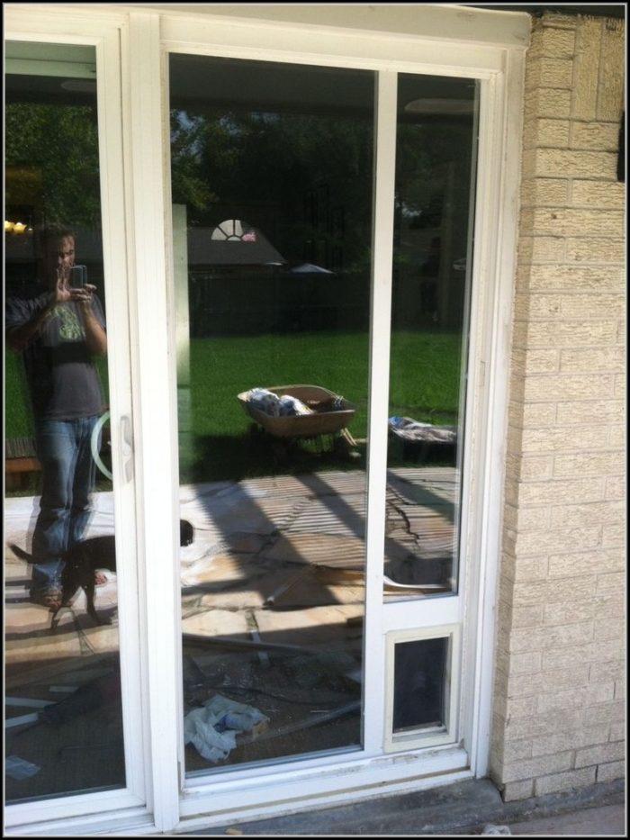 Sliding Door Dog Door Installation