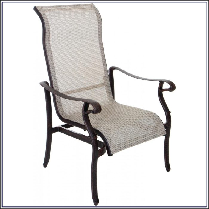 Sling Patio Chair With Ottoman