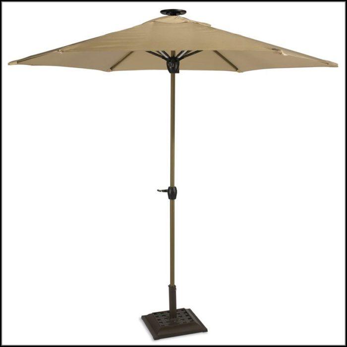 Solar Lighted Patio Umbrella