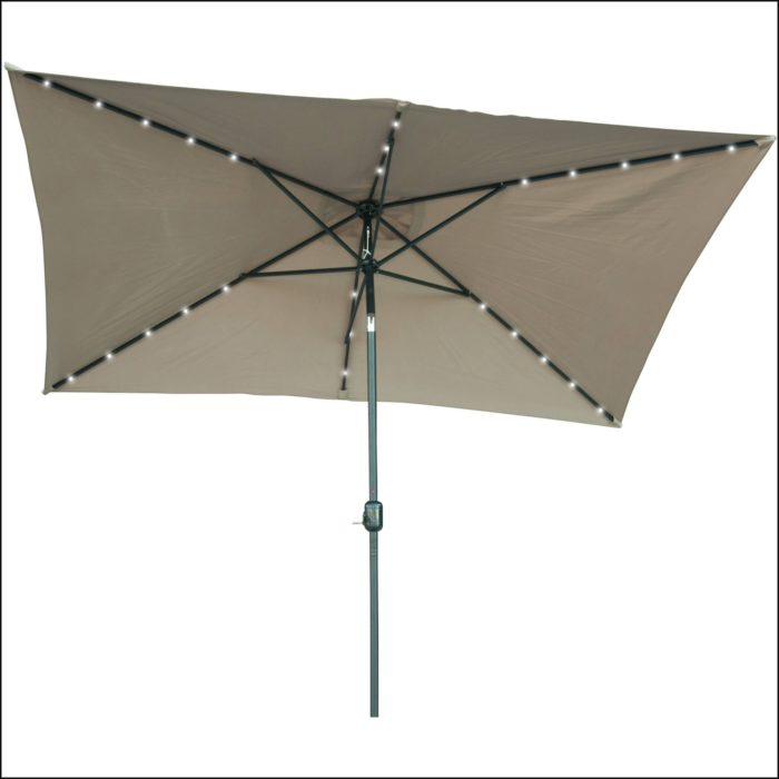 Solar Lighted Rectangular Patio Umbrella