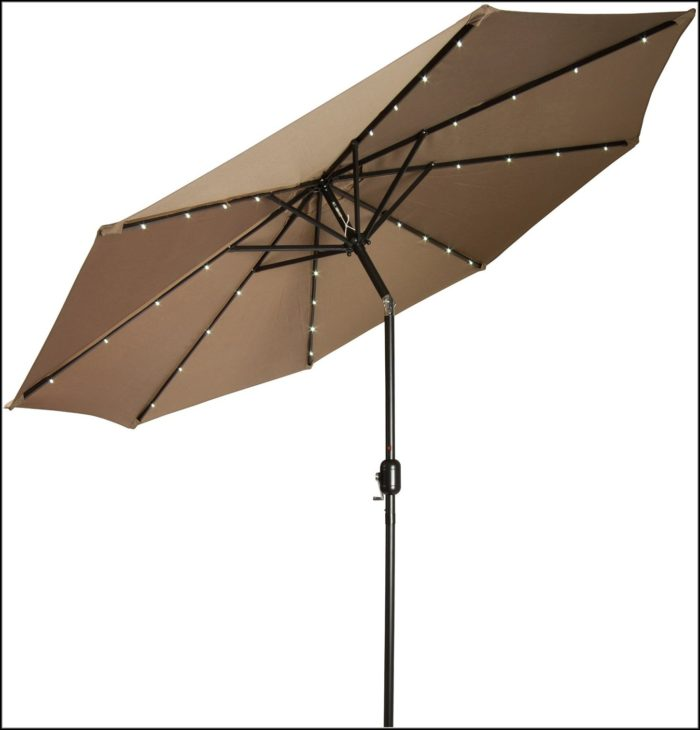 Solar Patio Umbrella Light Kit Patios Home Decorating