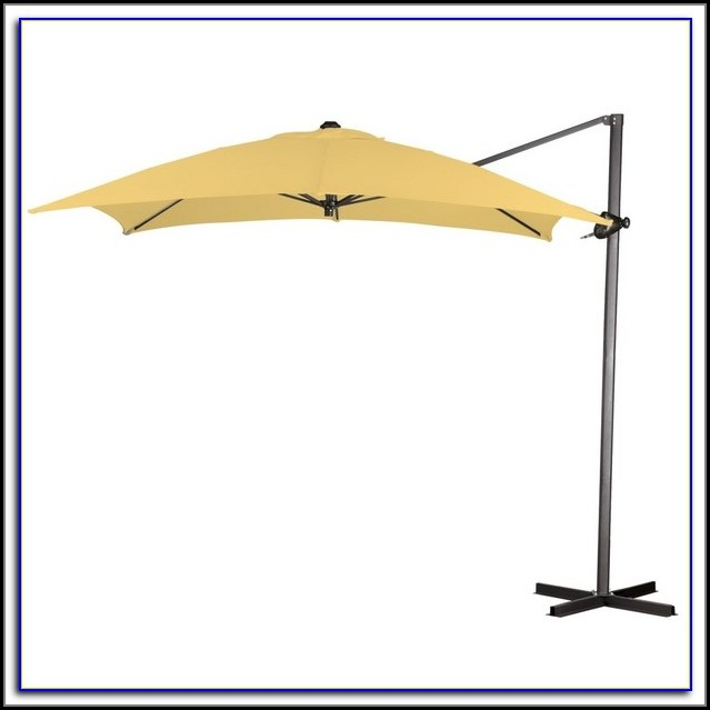 Square Offset Patio Umbrella And B