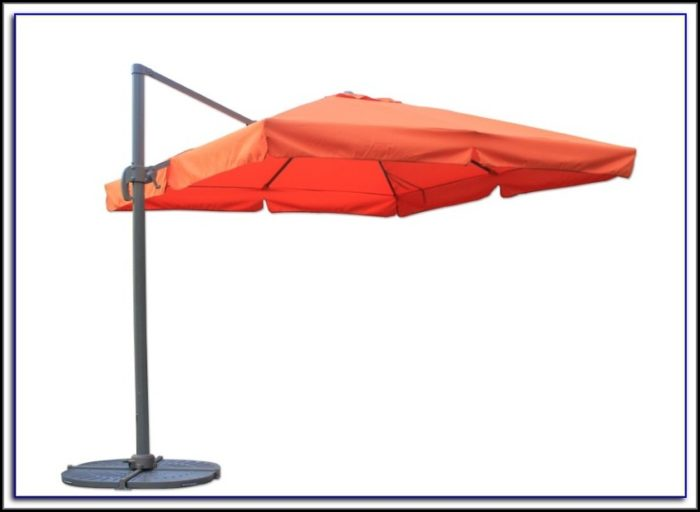 Square Offset Patio Umbrella With Netting