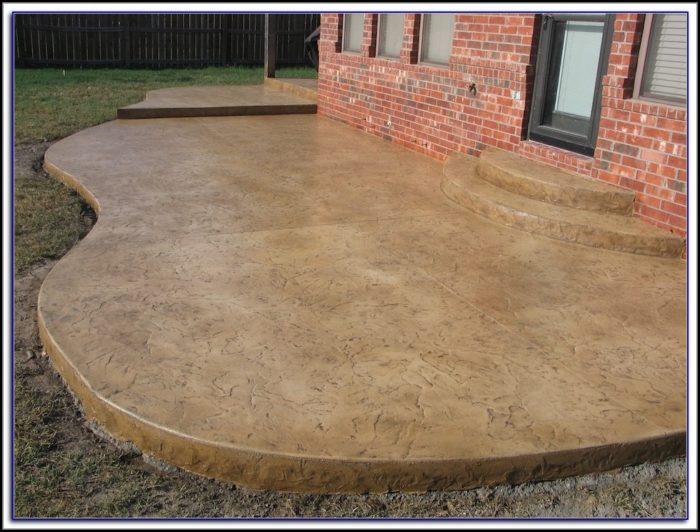 Staining Concrete Patio Floor Patios Home Decorating