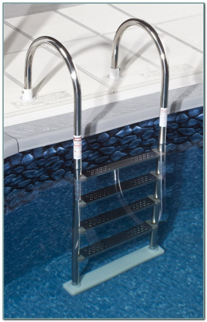 Stainless Steel Above Ground Pool Deck Ladder
