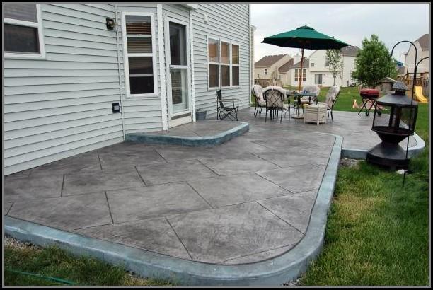 Stamped Concrete Patio Designs Color