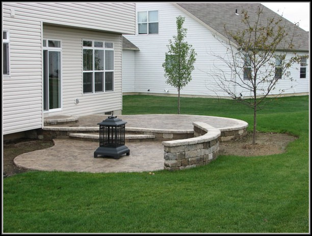 Stamped Concrete Patio Landscaping