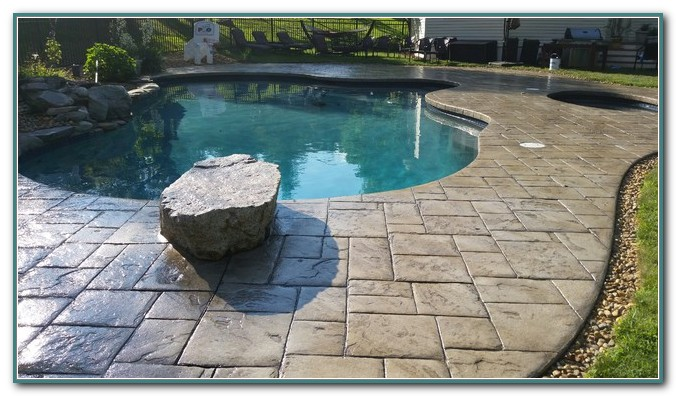 Stamped Concrete Pool Deck
