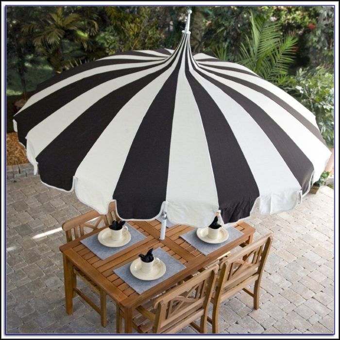 Striped Pagoda Patio Umbrella