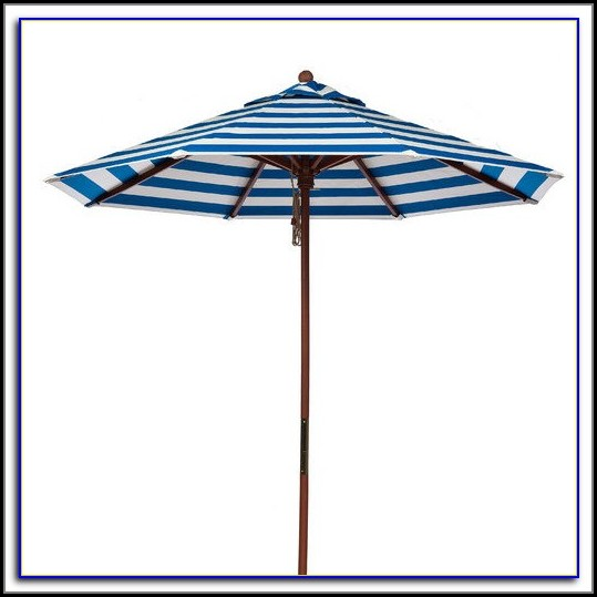 Striped Patio Umbrella Sunbrella