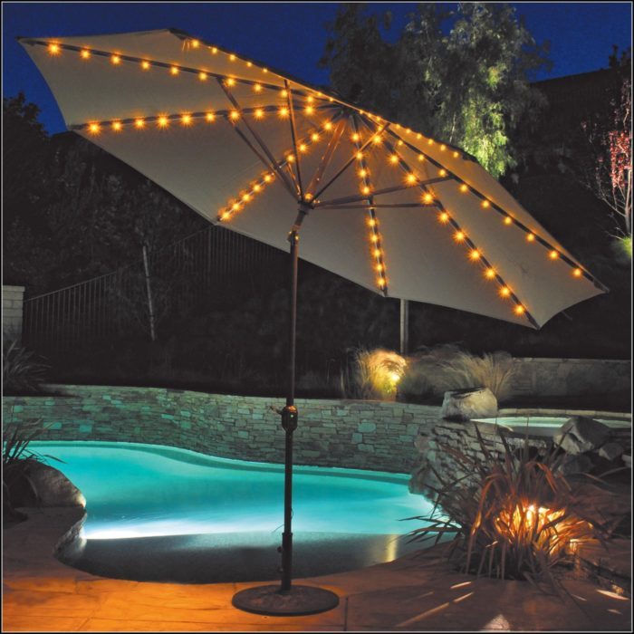 Tilt Patio Umbrella With Lights
