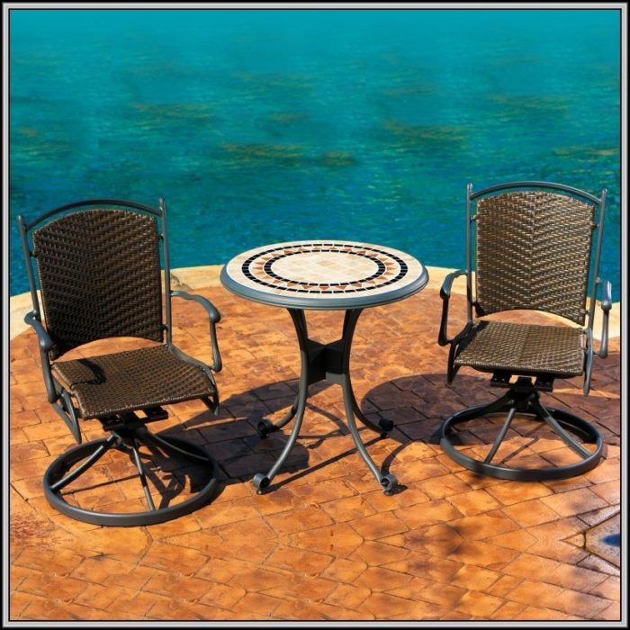 Travertine 3 Piece Patio Bistro Set