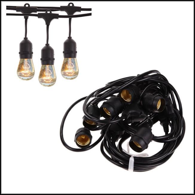 Vintage Patio Globe String Lights Black Cord