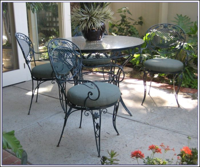 Vintage Wrought Iron Patio Furniture Makers